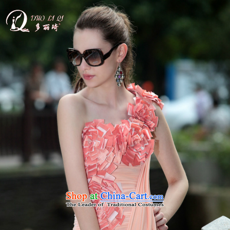 Doris Qi?2014 Doris Qi small pink dresses nightclubs dress foreign trade and sexy evening dresses pink?S