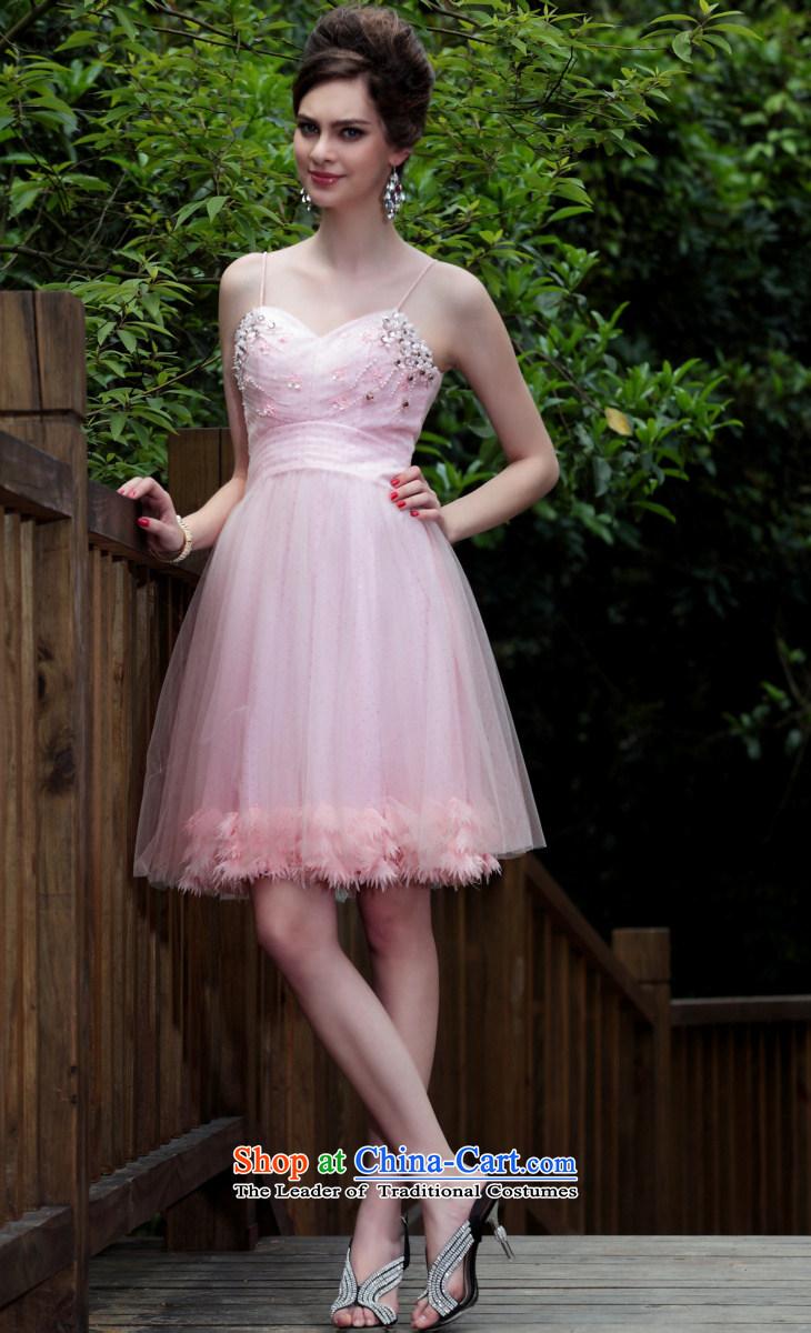 Doris qi small dress bridesmaid small pink dresses marriage dress doris qi small dress bridesmaid small pink dresses marriage dress western dress pink l picture ombrellifo Images