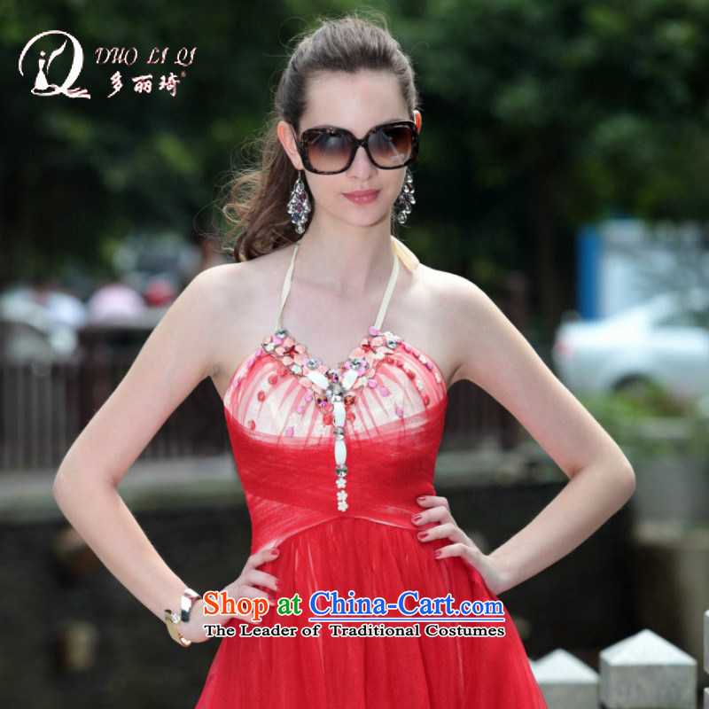 Doris Qi 2014 Doris Qi dress new foreign trade dress western dress red , L, Doris Qi (doris dress) , , , shopping on the Internet