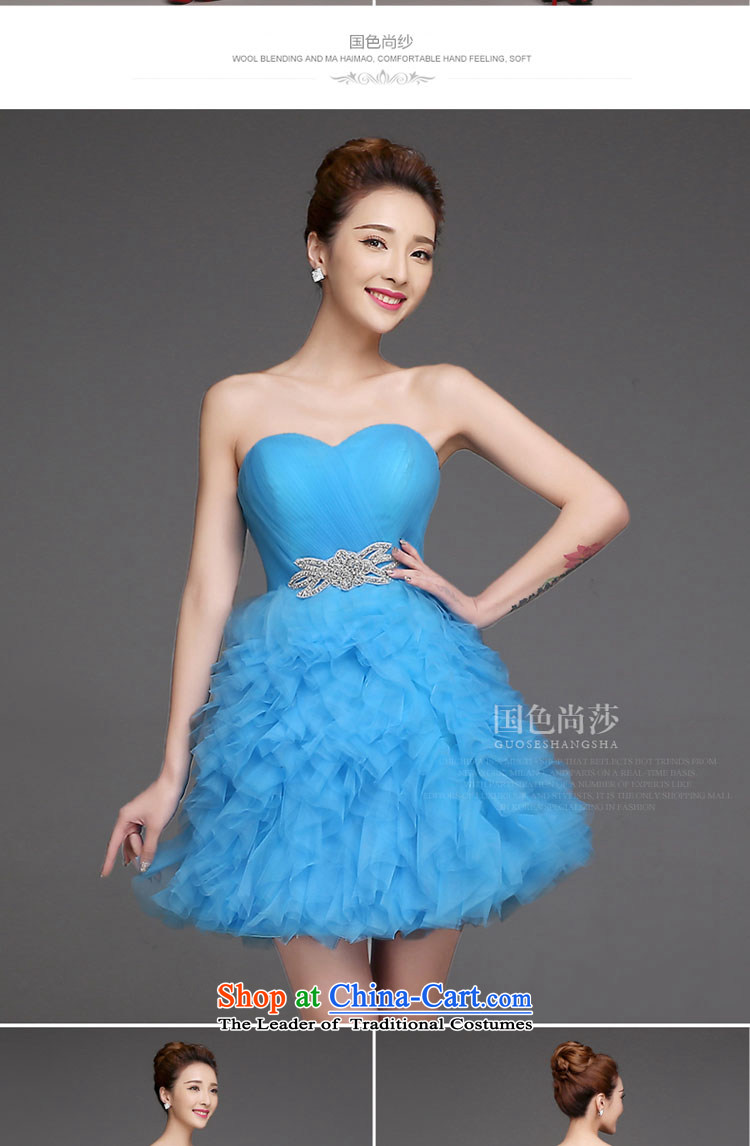 Bridesmaid dress 2015 new marriage short skirt and sisters ...