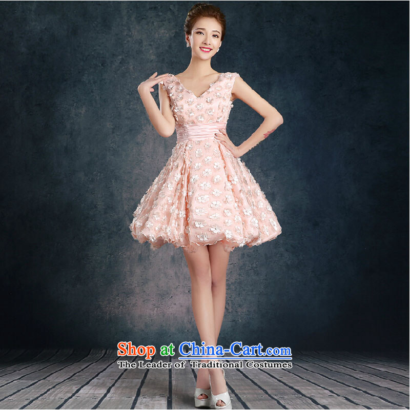 The autumn and winter, bridal dresses short?2015 new stylish wedding services red video thin bows bride evening dresses summer toner color depth v_?L