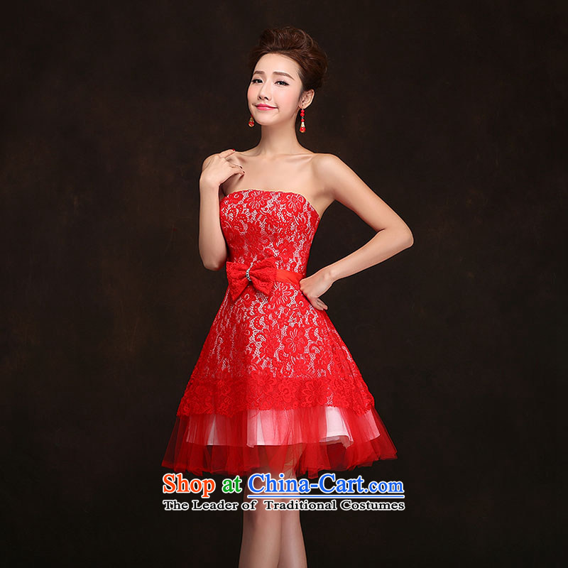 Qing Hua Sha fashionable new 2015 wedding dresses spring bridesmaid dress uniform purple short, sister mission as the size of the small red does not accept return