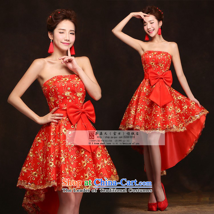 Love So Peng red bride bows services 2015 Spring/Summer New banquet dinner dress short, wedding dresses girls marry bridesmaid services聽do not need to be XXL support returning picture, prices, brand platters! The elections are supplied in the national character of distribution, so action, buy now enjoy more preferential! As soon as possible.