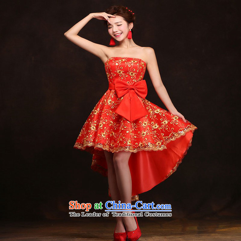 Love So Peng red bride bows services 2015 Spring/Summer New banquet dinner dress short, wedding dresses girls marry bridesmaid services聽do not need to be XXL support returning, love so Peng (AIRANPENG) , , , shopping on the Internet