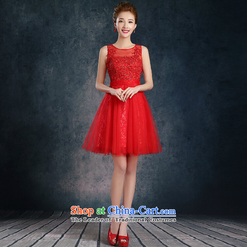 Short of evening?new 2015 wedding banquet dinner dress autumn and winter thick Sau San bride dress red?XXL