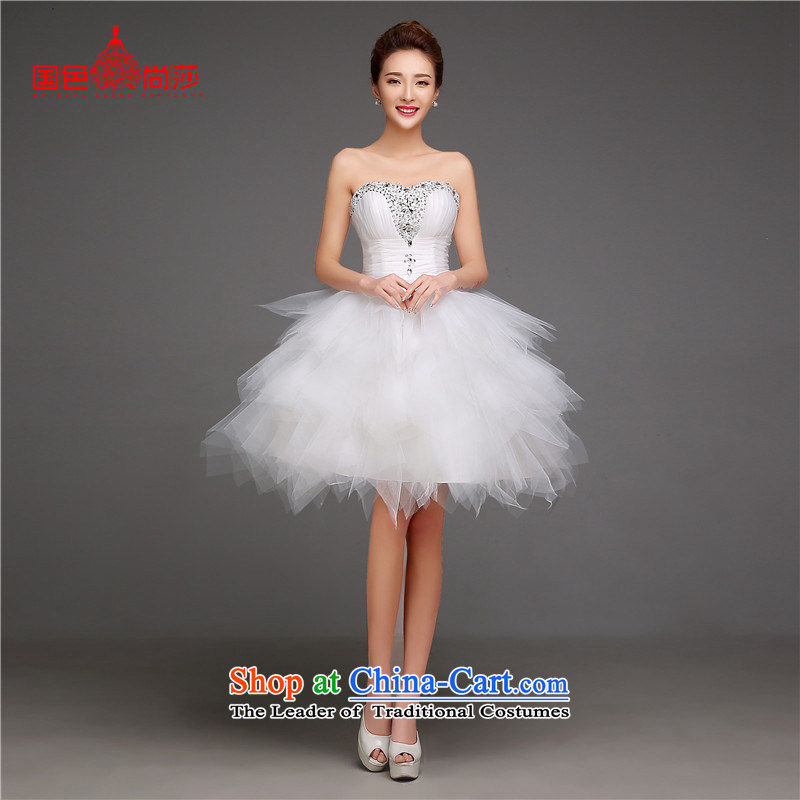 Evening dress new 2015 autumn and winter won annual chest Dress Short anointed, bon bon skirt banquet sister skirt small white girl聽s dress