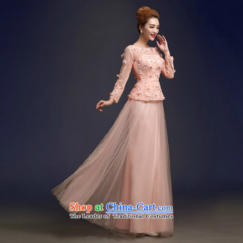 In autumn and winter bridesmaid skirt 2015 New Sau San short skirts and sisters, wedding dresses toasting champagne marriage bridesmaid services pink long M