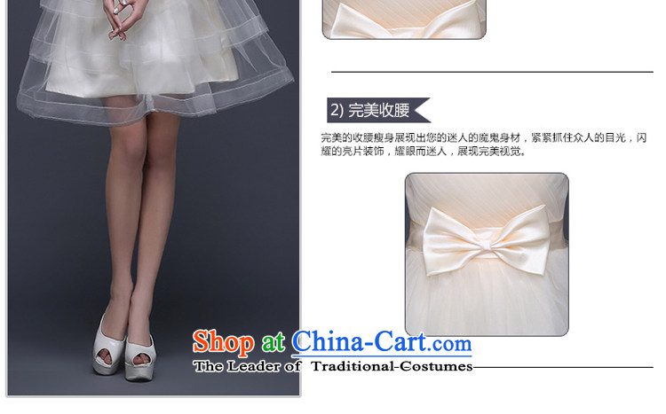 7 Color 7 tone Korean New anointed chest 2015 short, wedding dresses bridesmaid services bon bon spring and summer evening dress L032 champagne color M picture, prices, brand platters! The elections are supplied in the national character of distribution, so action, buy now enjoy more preferential! As soon as possible.