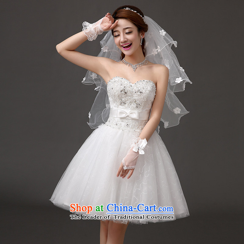 Qing Hua yarn spring and summer bridesmaid dress new 2015 wedding dresses, Bridal Services short banquet dinner dress skirt small white dresses and sisters聽XXL