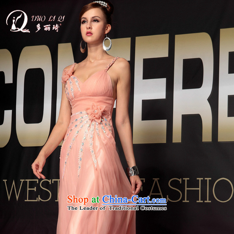 Doris Qi dress sexy costumes western lifting strap Sau San evening dresses pink聽XL