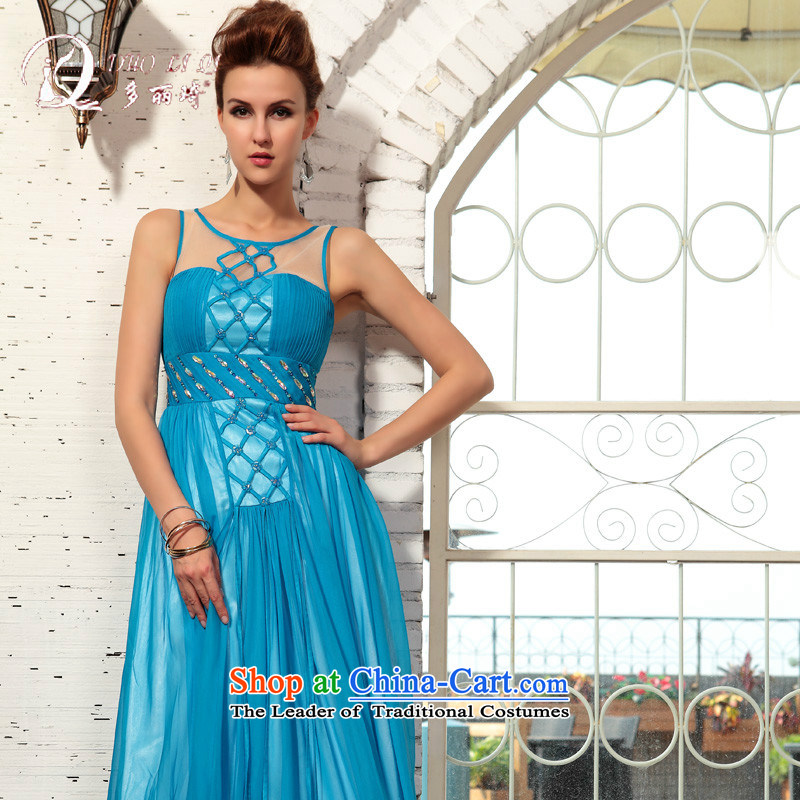 Doris Qi 2015 Spring Doris Qi Evening Party dancing evening dresses western dress Blue M