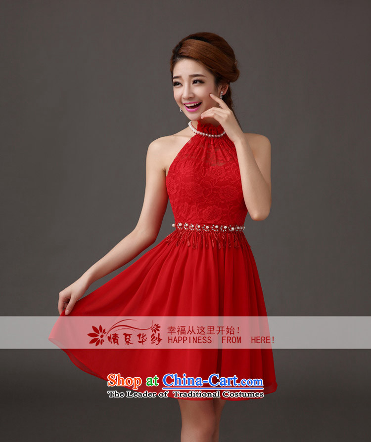 The feelings of Chinese New Year 2015 yarn marriages small dress red wall also stylish short skirts wedding dresses toasting champagne evening dresses red s picture, prices, brand platters! The elections are supplied in the national character of distribution, so action, buy now enjoy more preferential! As soon as possible.