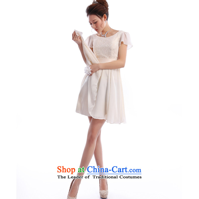 _Heung-lun's spring as soon as possible the new 2015 small dress dresses and sisters dress bridesmaid service, shoulders princess skirt champagne color champagne color?XXL