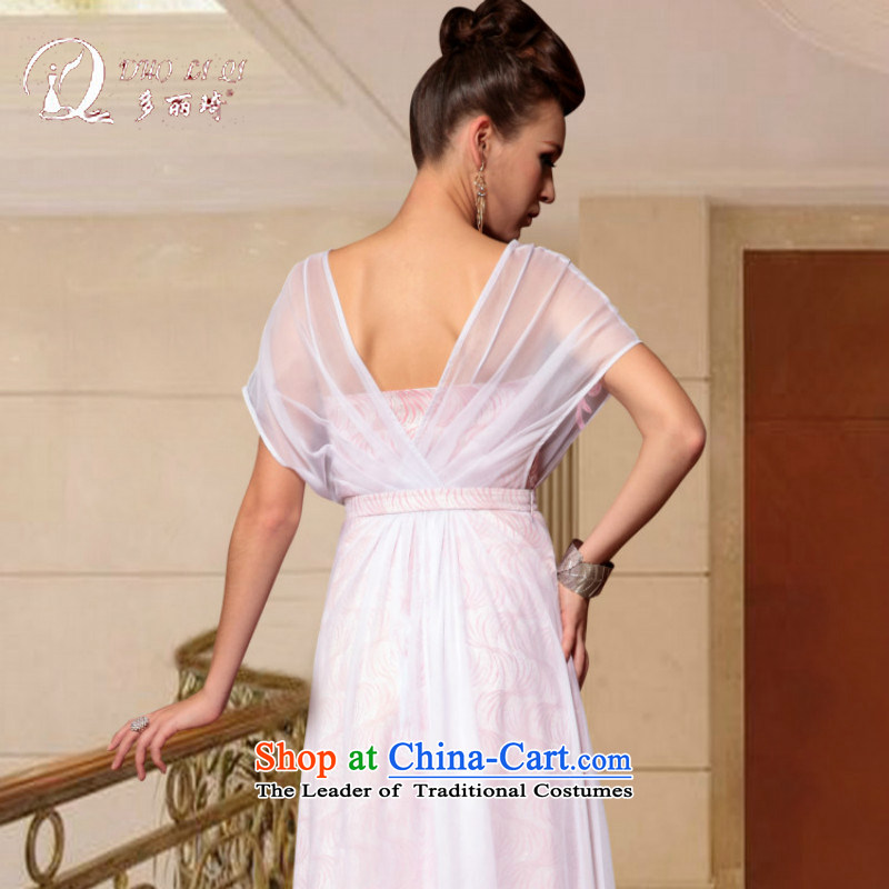 Doris Qi western dress short of dress crowsfoot red bows service wedding dress long white L, Doris Qi (doris dress) , , , shopping on the Internet