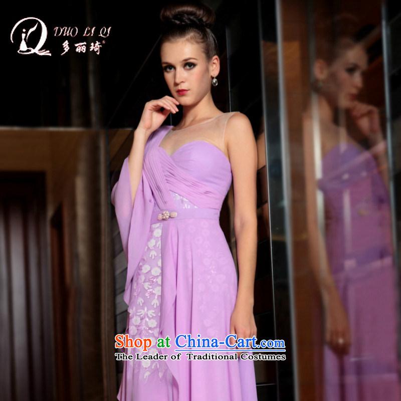 Doris Qi western dress boutique chiffon evening dresses bridal dresses Sau San dresses small light purple�XXL