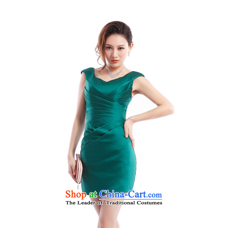 _Heung-lun's health and sexy beauty small bag and dress short summer Female dress?party nightclubs photo album evening female presiding over the green?XXL