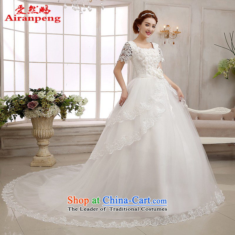 Love So Peng tail wedding dresses 2015 Spring a field large shoulder straps to align marriages video thin bon bon skirt female tail XXL need to do not support returning