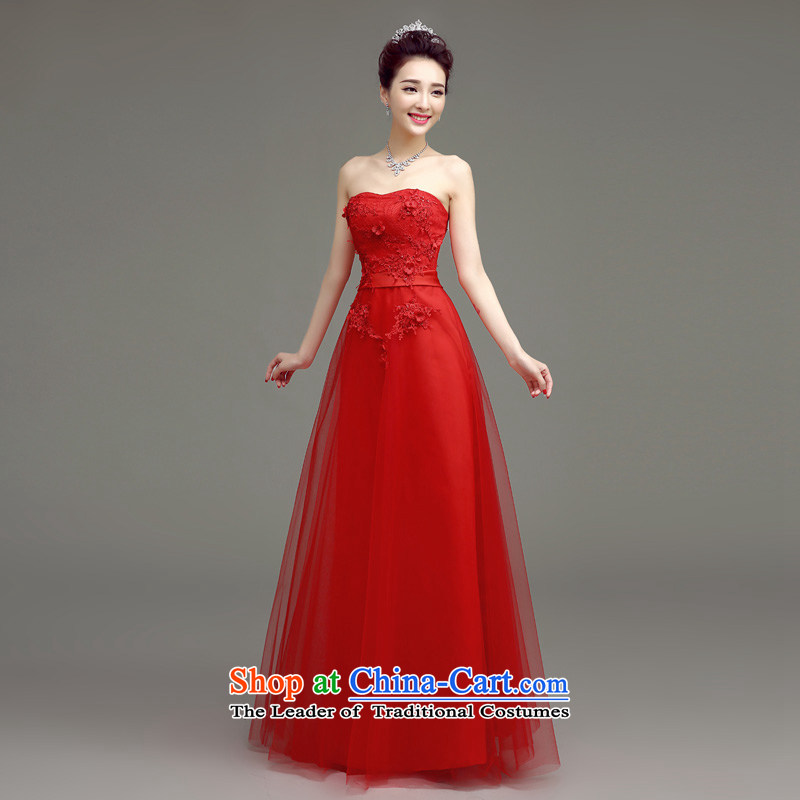In accordance with the Netherlands varies with the 2015 Summer wedding dresses new bride bows to Korean long stylish and Sau San chest marriage evening dresses red?s