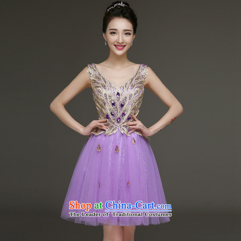 The privilege of serving-leung evening dresses new summer and fall of 2015 replacing bridesmaid service, sister skirt bridesmaid mission dress bridesmaids short M