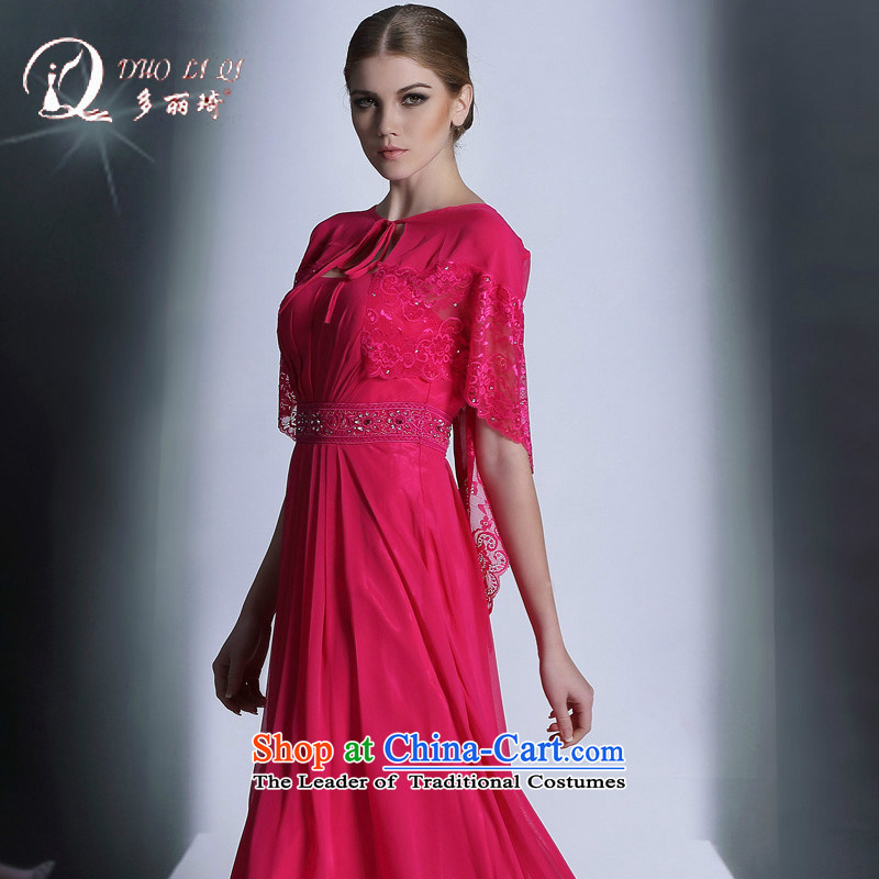 Doris Qi 2014 Doris Qi red long western dress rose red S