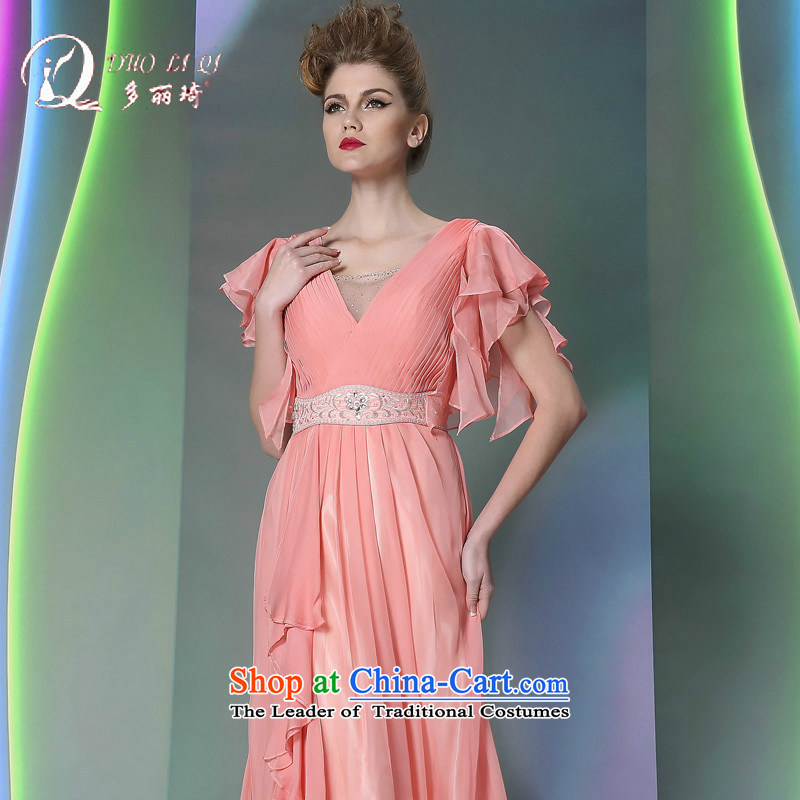 Doris Qi Xia toner Fei Fei cuff 2014 Doris Qi wedding dress pink M