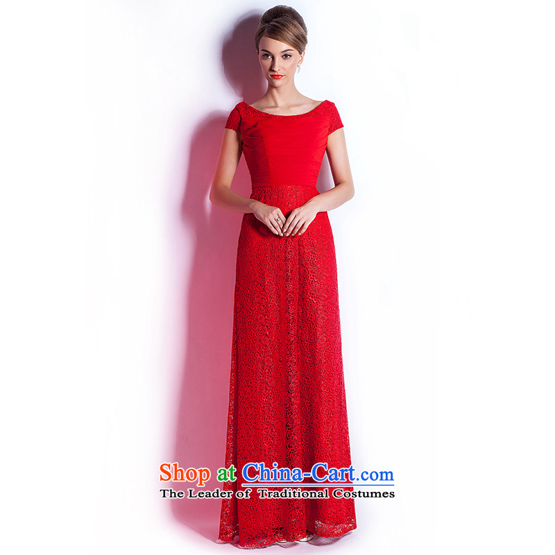 _Heung-lun's Health 2015 Spring_Summer new bride bows services for high-end fashion Sau San long evening dresses red XL