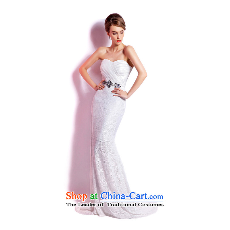 _Heung-lun's Health 2015 Spring_Summer new crowsfoot anointed chest evening banquet hosted marriages of long evening dresses reception XL
