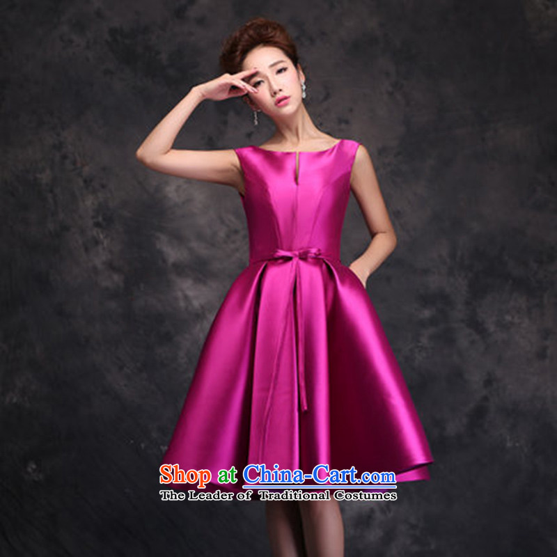 Evening dress New Korea 2015, spring and summer bows marriages stylish moderator dress dresses female rose�XXL