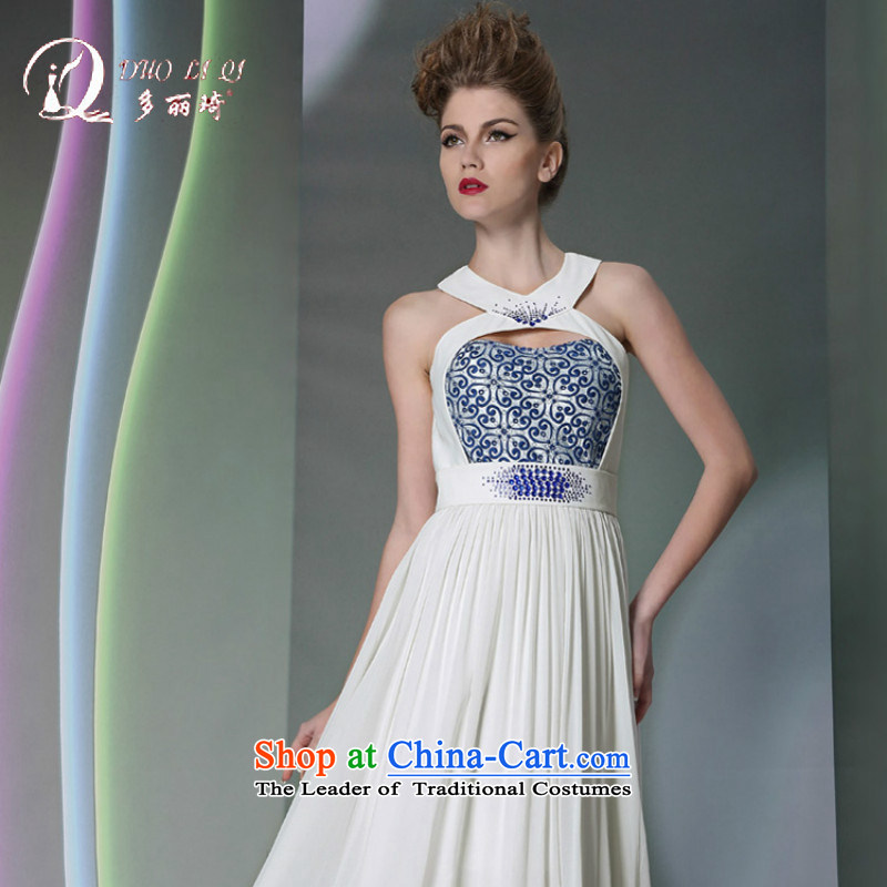 Doris Qi white wall also sexy evening dresses appointments bridesmaid diamond jewelry evening dresses white聽L