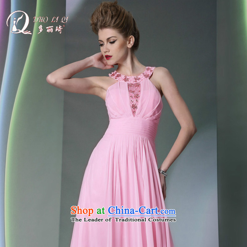 Doris Qi Pink dresses hang bridesmaid also dinner dress adult sisters served with beauty pink�XXL