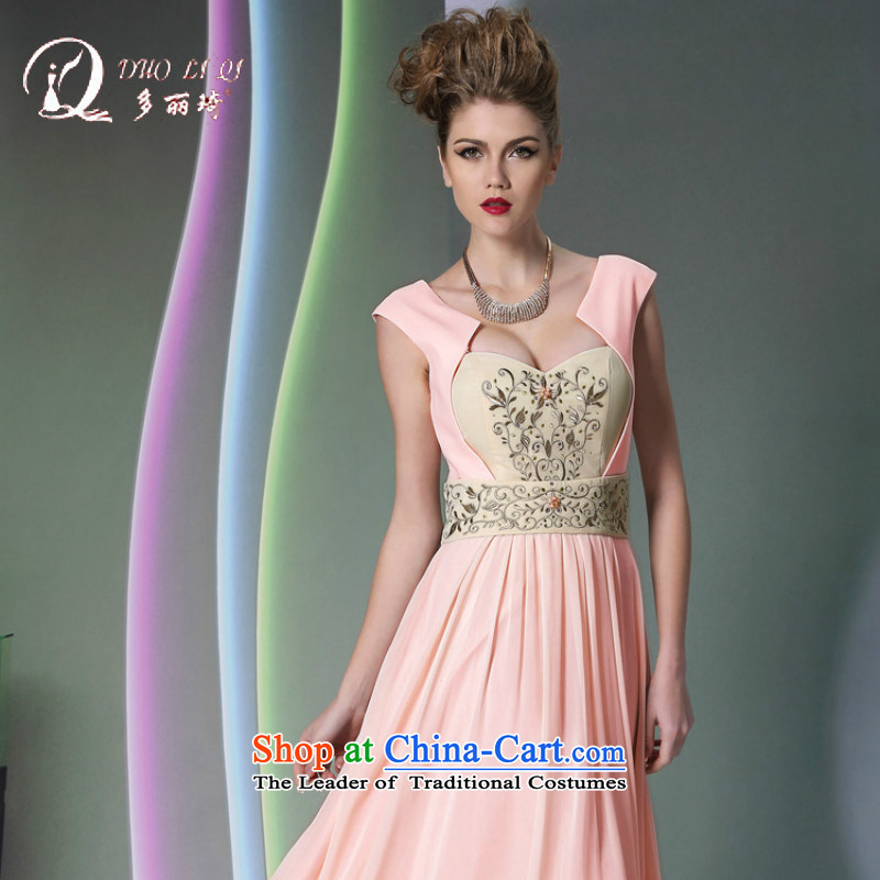 Doris Qi pink sexy evening dresses wedding dresses bridesmaid services hot pink�XXL
