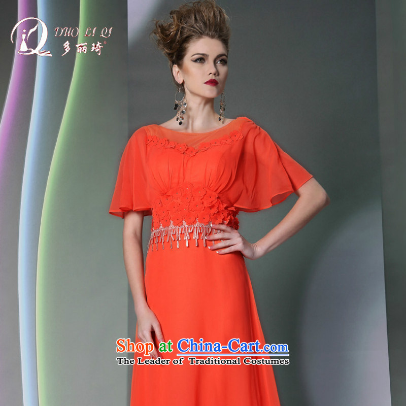 Doris Qi show moderator evening dress in cuff elegant appointments small dress bridesmaid dress red聽S