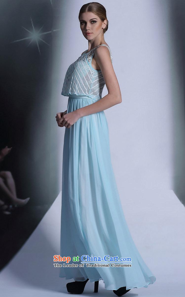 Doris Qi Blue Bohemia long gown dinner reception will dress beach ...