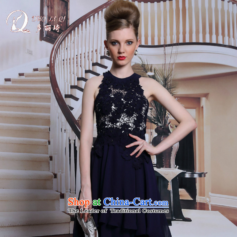 Doris Black Pearl of the nails Qi Hang evening dresses and sexy also A swing evening reception appointments large female dress Black聽XL