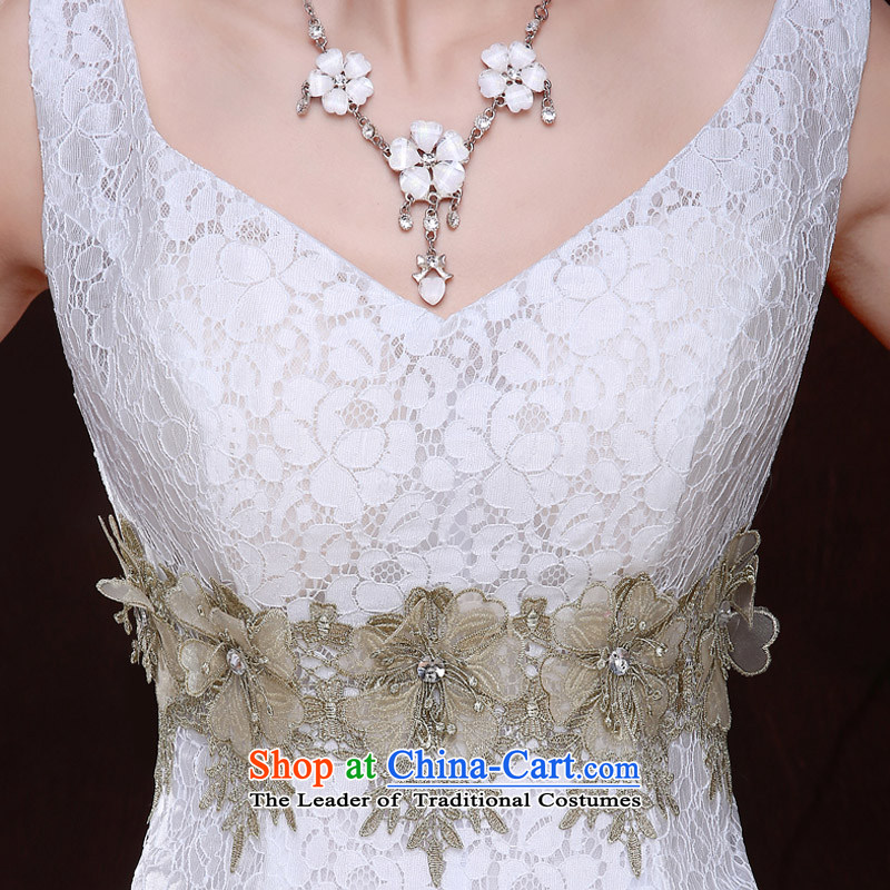 Qing Hua yarn bride short wedding banquet evening dresses bridesmaid Service, 2015 new spring and summer wedding dresses marriages small female white聽L dress Sau San Qing Hua yarn , , , shopping on the Internet