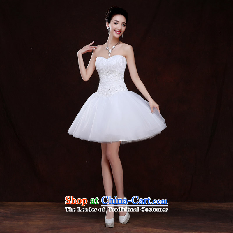 Qing Hua yarn anointed chest wedding dresses new 2015 Spring/Summer lace long marriages bows service, evening dresses White?XXL