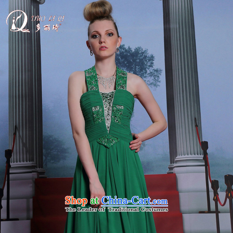 Doris Qi Hang also dress green back evening dress adult evening dress green appointments?XL