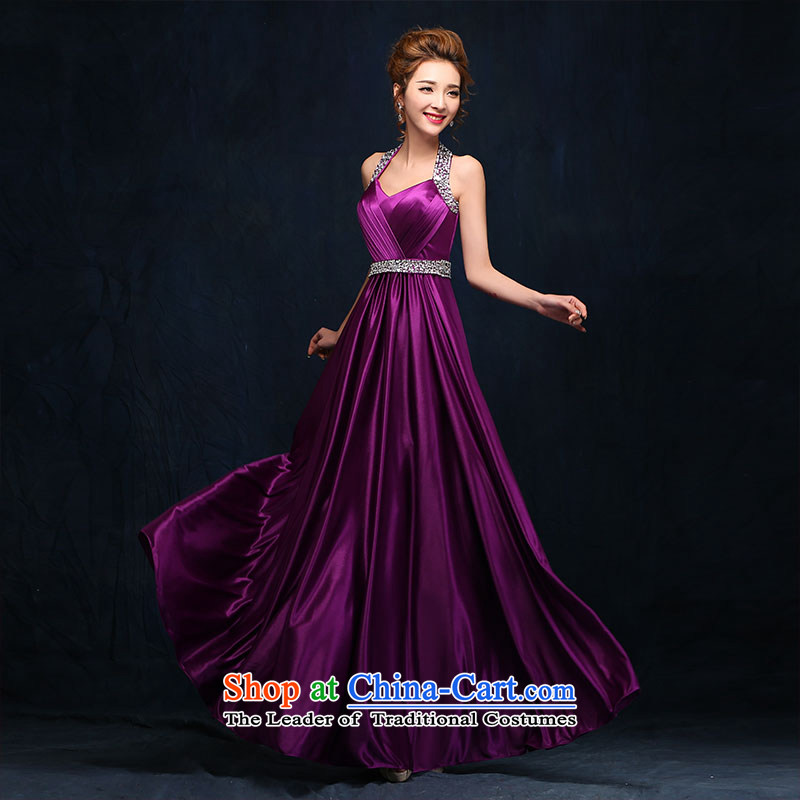 According to Lin Sa 2015 marriages bows services bridesmaid long evening dresses banquet hosted shoulders V-Neck dress�M