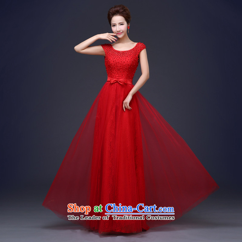 Jie Mia in?spring and summer 2015 new bride alignment of the funds from the wedding dress lace red bows services red?S