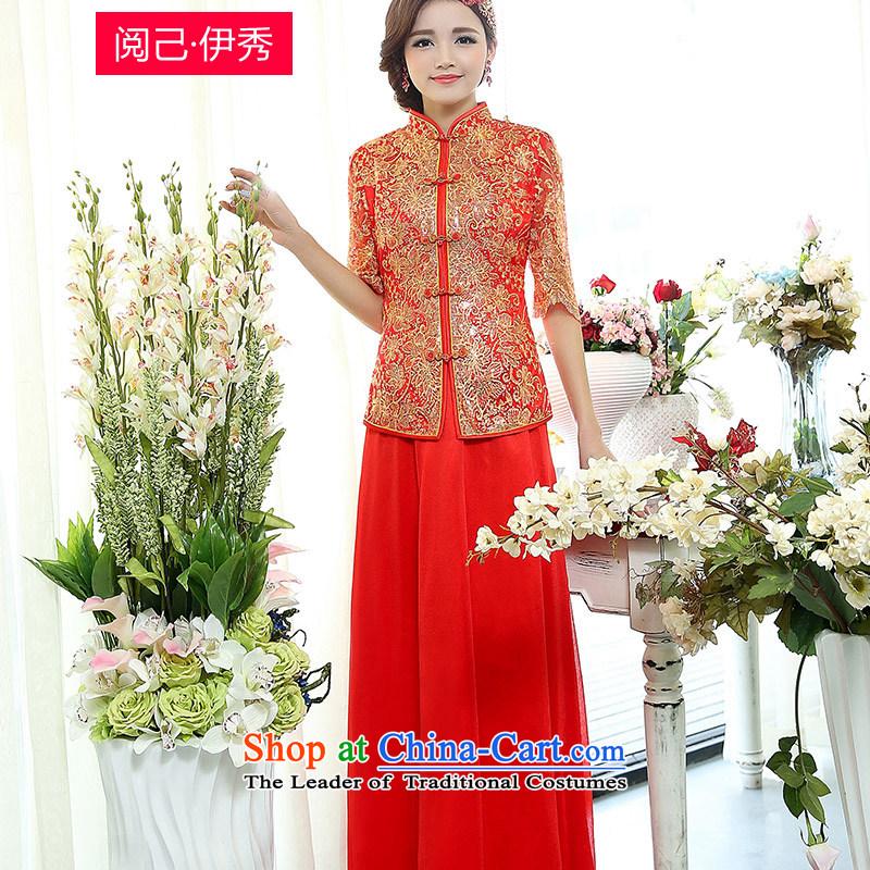 Read and el-soo spring 2015 new minimalist Sau San female retro two kits toasting champagne evening dress skirts and Kim Ho聽XXL
