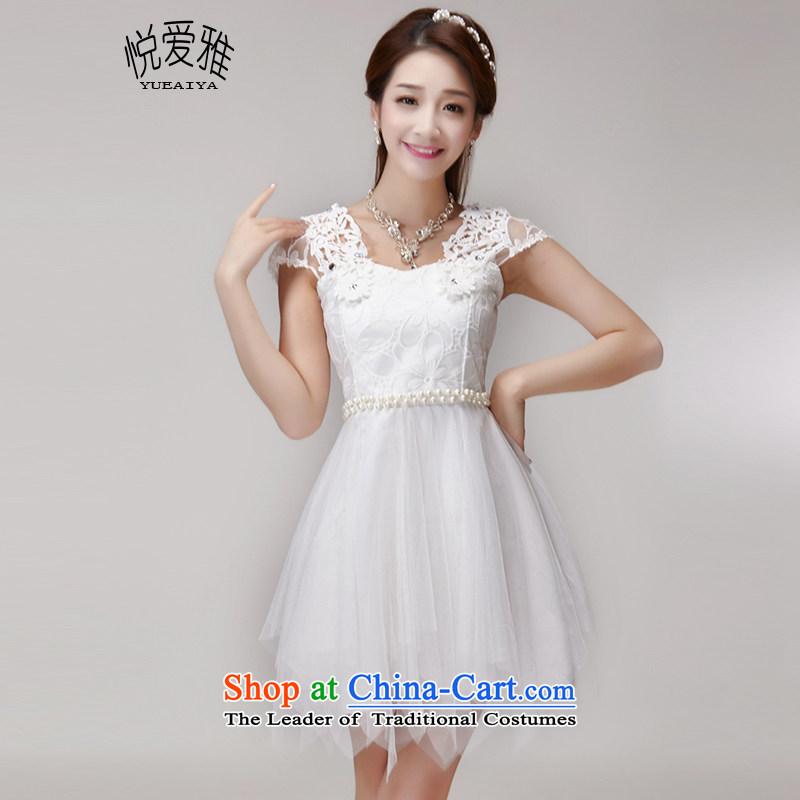 The Hyatt Regency love ya 2015 Summer hook wire manually set drill blossoms gemstone aristocratic princess elastic waist dresses dress code are white DR10153