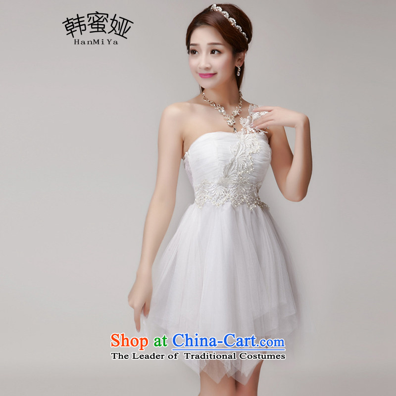 Korea Honey new nails Tarja Halonen 2015 Pearl bridesmaid sister skirt short of services and chest dress summer banquet DR9883 pink are code