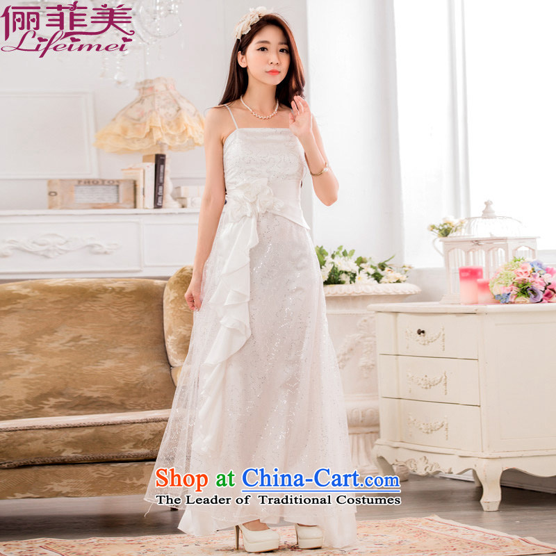 158, happy star on chip evening performances under the auspices of the annual meeting of chief toasting champagne bride large lifting strap White�XXL suitable dress 135-155 catty