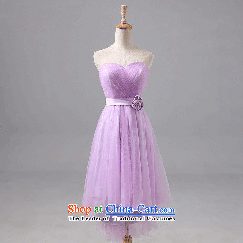 According to Lin Sha wedding dress bridesmaid small in Korean dress bridesmaid dress sister married bridesmaid skirt the new 2015�M) F short