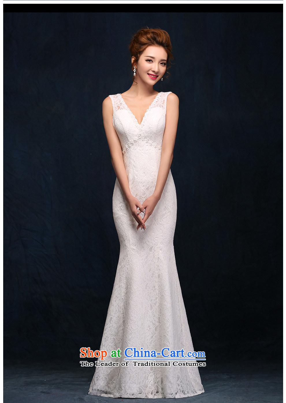 According to Lin Sha shoulders V-Neck wedding dress lace new sexy back crowsfoot bride wedding white video thin dress Sau San White M picture, prices, brand platters! The elections are supplied in the national character of distribution, so action, buy now enjoy more preferential! As soon as possible.