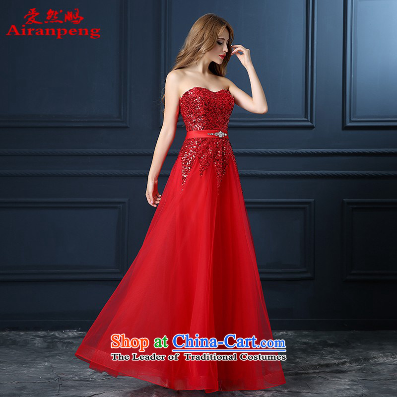 Love So Peng new bride toasting champagne 2015 Services Company annual high-dress short of porcelain dinner dress bridesmaid banquet spring to the size of the customer to be red do not support returning