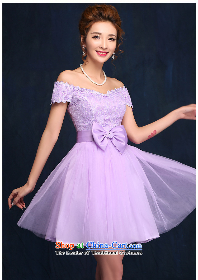 2015 new bridesmaid dress a field shoulder lace white short skirt bon bon skirt straps small dress sister skirt purple聽L picture, prices, brand platters! The elections are supplied in the national character of distribution, so action, buy now enjoy more preferential! As soon as possible.