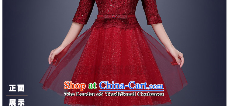 Jie Mija2015 Spring New lace wedding dresses, small short skirt evening dress performances bride services bridesmaid dresses bows deep redXL Photo, prices, brand platters! The elections are supplied in the national character of distribution, so action, buy now enjoy more preferential! As soon as possible.