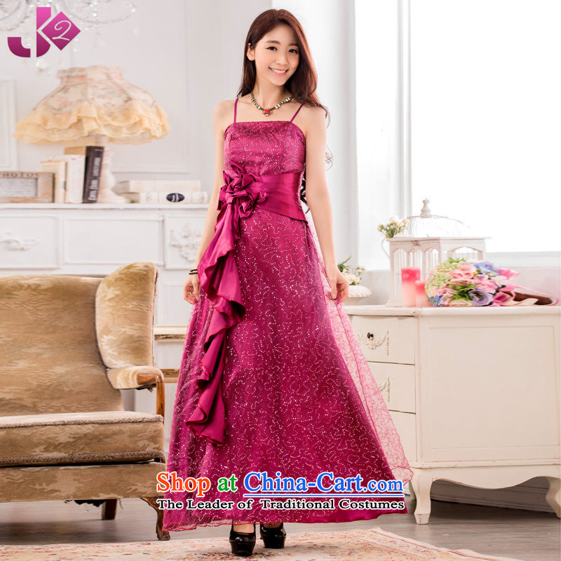 The new summer 2015 Jk2.yy super star on-chip performance wedding dress bows to the skirt of large mauve?3XL recommendations about 175