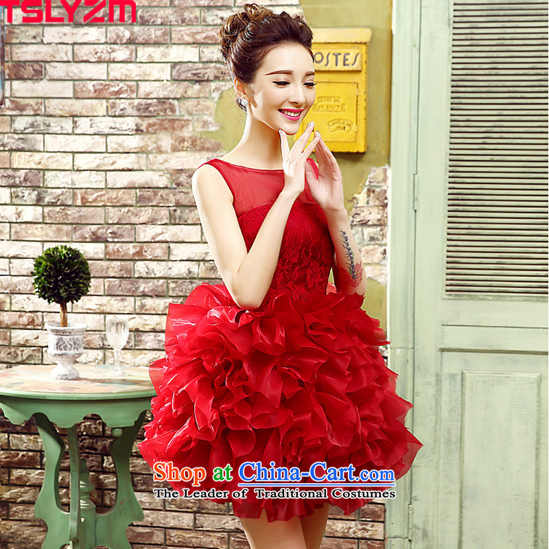 Photo building theme clothing tslyzm2015 wedding photography small dress personal photo album moderator will singer female flowers bon bon short skirts, cakes, red zipper L
